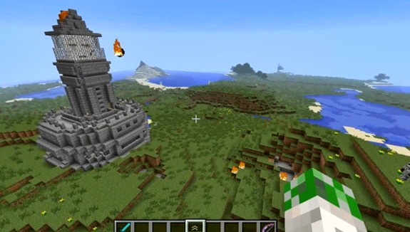 Minecraft Ghast Cannon Tower: Fire Those Suckers at Your Enemies (Video)