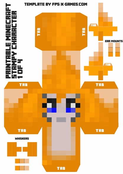 How to Make a Minecraft Printable StampyLongNose Character – Leo Sigh