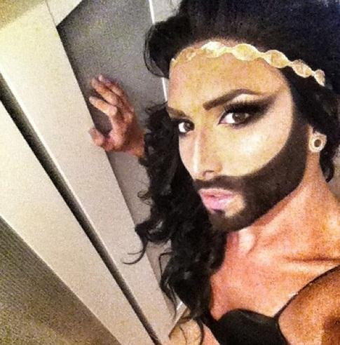 Conchita Wurst strike that pose