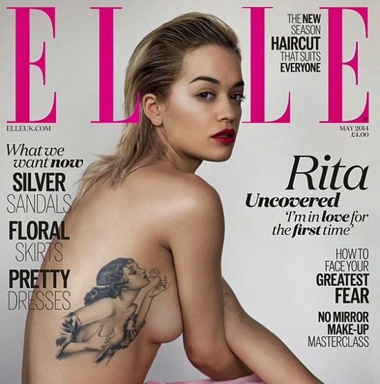 Elle Rita Ora pin up tattoo