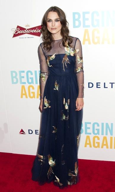 Keira Knightley Begin Again New York premiere