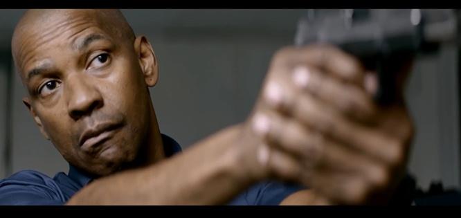 denzel washington movie still the equalizer gun