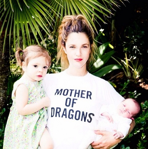drew barrymore mother of dragons instagram