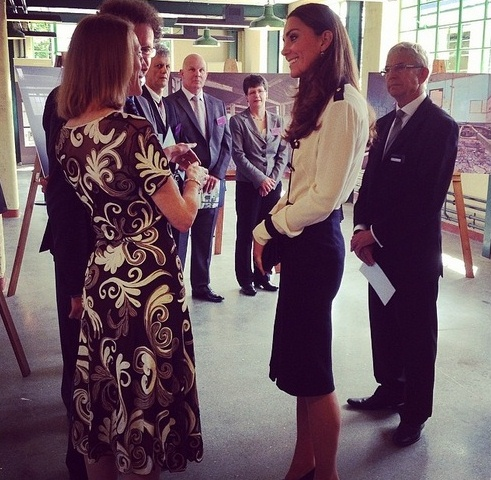 duchess of cambridge at bletchley park instagram