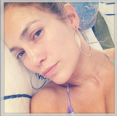 jennifer lopez no make up day instagram