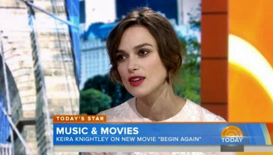keira knightley begin again the today show