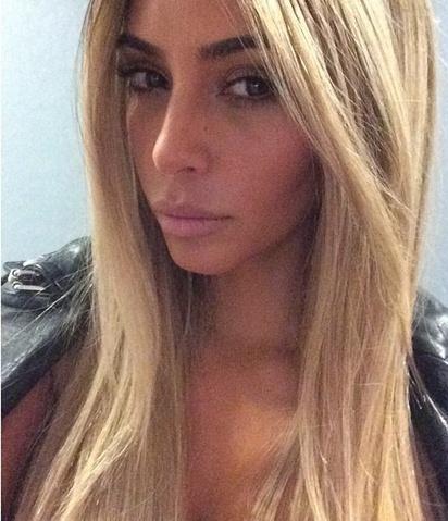 kim kardashian blonde hair wig