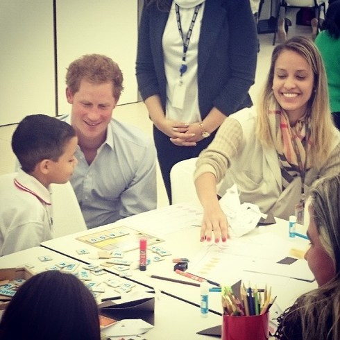 prince harry in brazil at Rede Sarah Hospital
