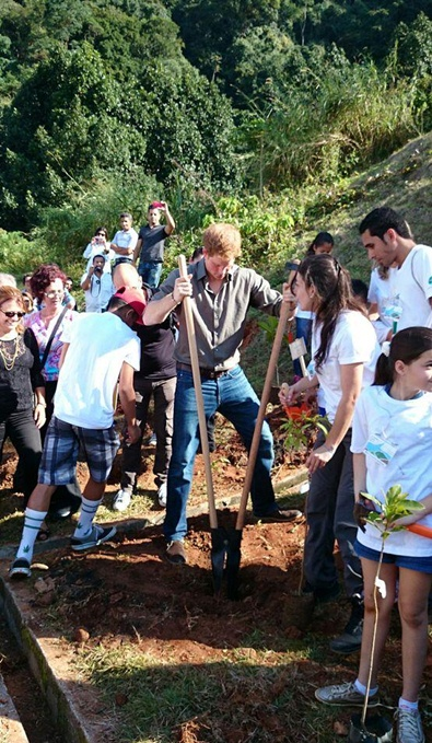 prince harry reforestation project brazil