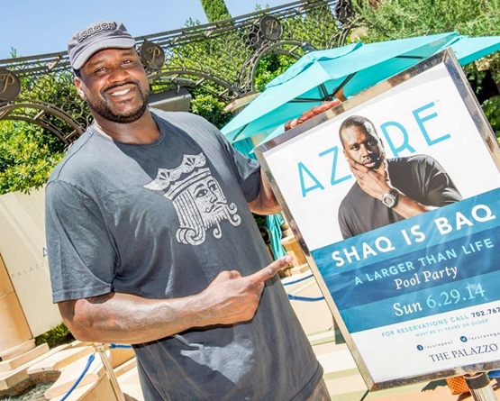shaquille o neal azure pool party las vegas