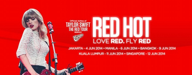 taylor swift air asia red tour plane