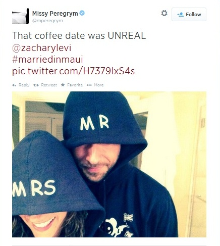 Missy Peregrym and Zachary Levi Get Married: Cutest Announcement Ever
