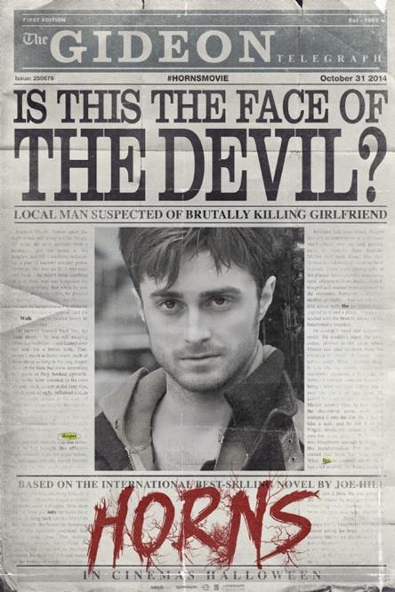 Daniel Radcliffe Horns Poster