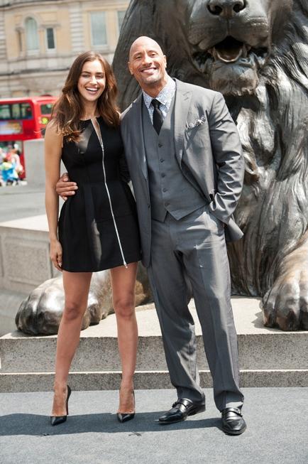 Irina Shayk and Dwayne Johnson Hercules