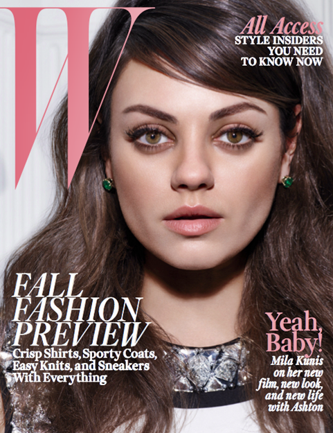 Mila Kunis W Magazine August 2014 cover pregnancy