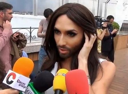 conchita wurst interviewed in madrid