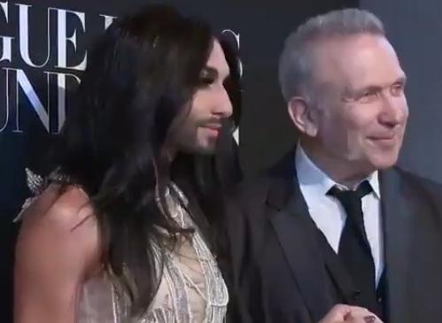 conchita wurst jean paul gaultier vogue foundation party paris fashion week