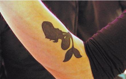 conchita wurst little mermaid tattoo