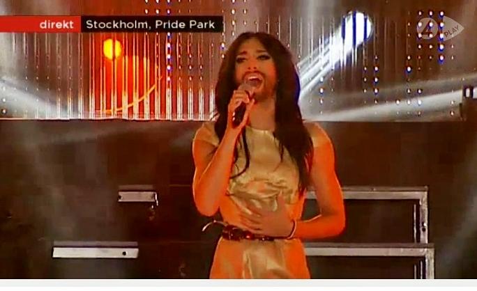 conchita wurst live stockholm pride sweden