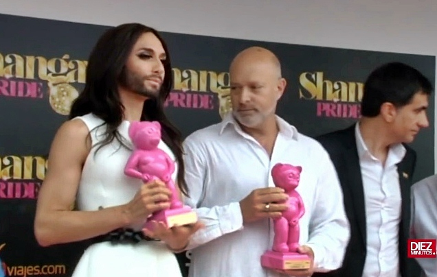 conchita wurst madrid pride award