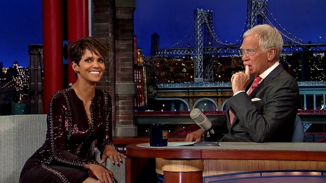 halle berry late show with david letterman july 2014 vomit comet ride