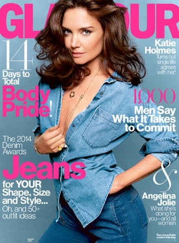 katie-holmes-august-cover-glamour magazine
