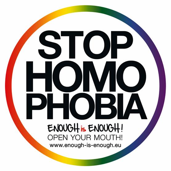 stop homophobia button