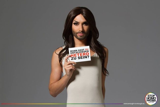 stop homophobia conchita wurst when did you choose to be straight