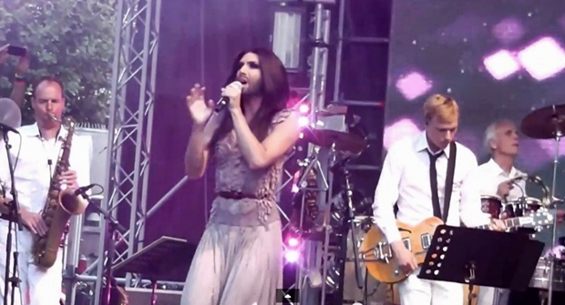 conchita wurst amsterdam gay pride closing party rise