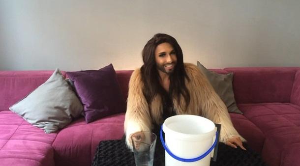 conchita wurst ice bucket challenge refusal