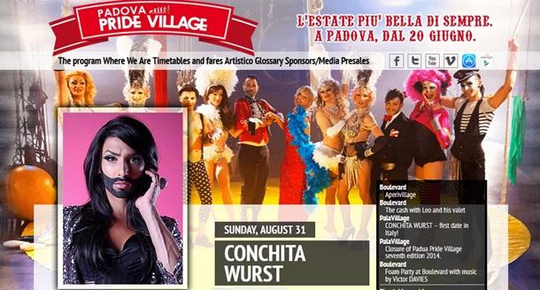 conchita wurst padova pride village