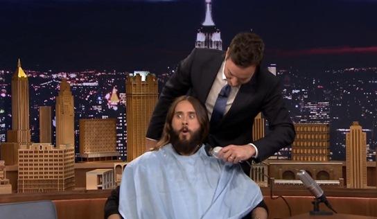 jared leto jimmy fallon beard trim