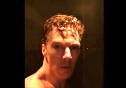 naked benedict cumberbatch ice bucket challenge