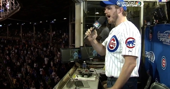 chris pratt sings take me out to the ball game chicago cubs