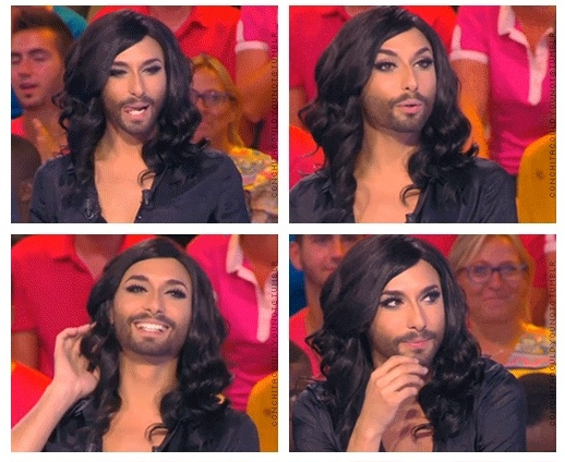 conchita wurst does girly