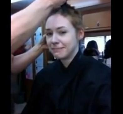 karen gillan getting head shaved guardians