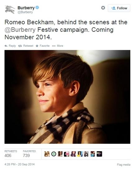 romeo beckham burberry november 2014 ad campaign