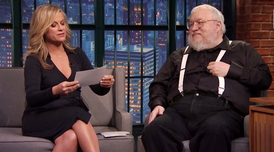 amy poehler and george r r martin on