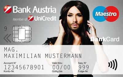 bank austria bank card conchita wurst