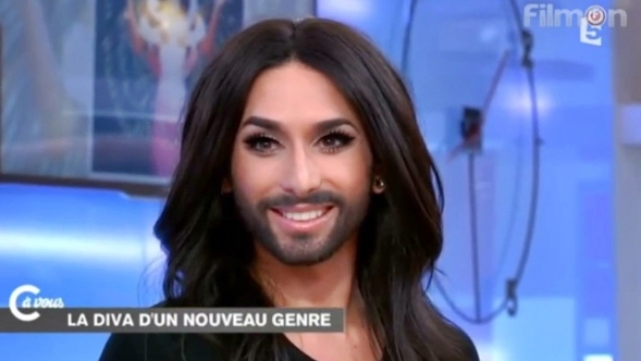 conchita wurst is just so pretty