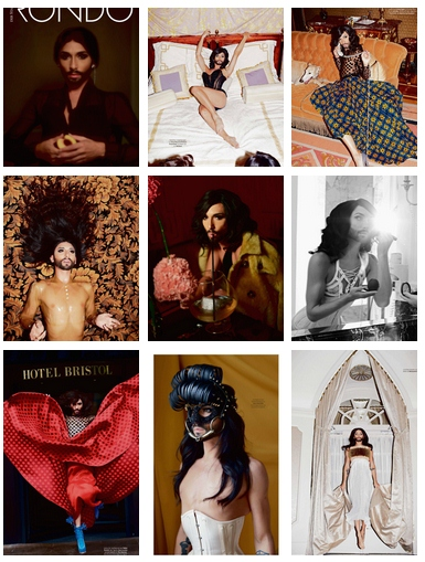 conchita wurst rondo photo collage