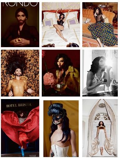 conchita wurst rondo photo collage