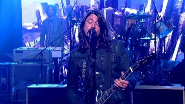foo fighters david letterman something from nothing