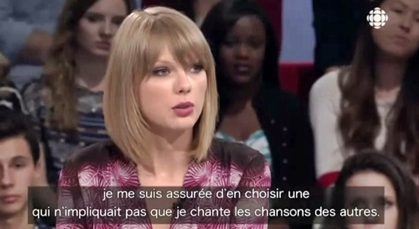 taylor swift interview french canadian tv