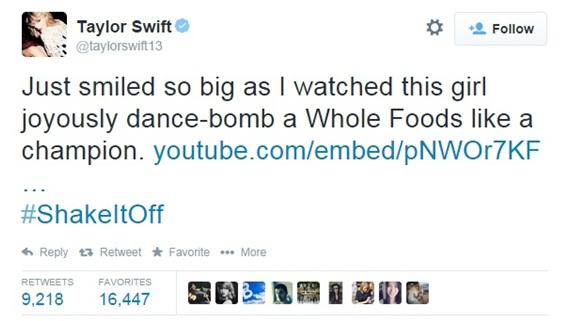 taylor swift tweet shake it off