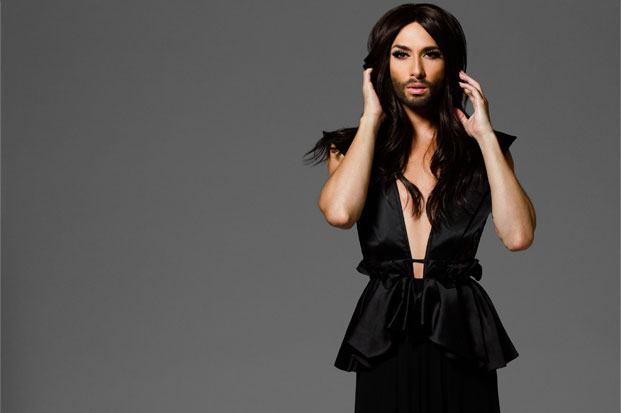 Conchita Wurst Performing at United Nations Vienna and Meeting Ban Ki-Moon