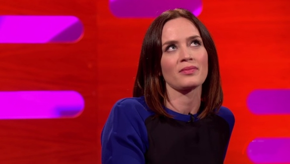 emily blunt imitating a little girl