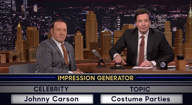 kevin spacey does impressions of bill clinton johnny carson tonight show