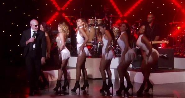 pitbull sings fireball on the ellen show