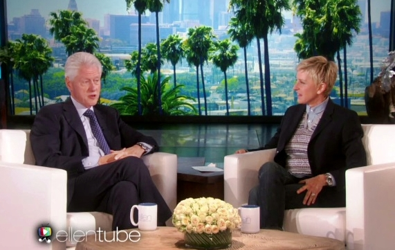 president bill clinton on ellen show